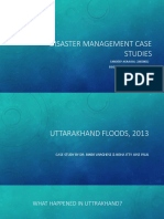 Disaster Management Case Studies