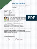 6 La Proportionnalite Cours-examens.org