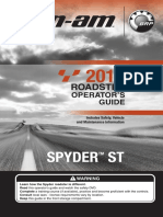 2013 Spyder ST Owners Manual