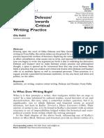 Kafka and Deleuze/ Guattari
