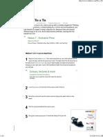 4 Ways to Tie a Tie - wikiHow.pdf