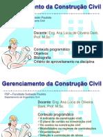 Gerenciamento Da Construção Civil - Cronograma