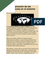 La Conspiración de Las Democracias en El Sistema NOM