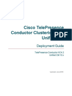 TelePresence Conductor Clustering Unified CM Deployment Guide XC4 2
