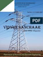 Vidyut Sanchaar, Electrical & Electronics Department Magazine October 2013 NIT Arunachal Pradesh , 1st Departmental Magazine.