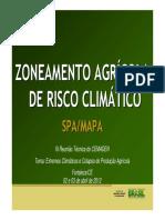 Zoneamento Agrícola de Risco Climático Spa-mapa