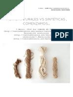 Fibras Naturales vs Fibras Sinteticas