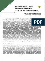 Derechos Humanos y Corporeidad en Los Ejércitos de Evelio Rosero