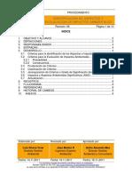 Procedimiento Identificación y Evaluación de Aspectos e Impactos Ambientales PGA-001