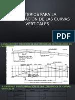criterios para determinacion de curvas verticales