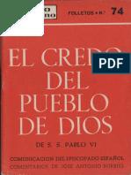 Burriel-Comentarios Credo Pueblo de Dios