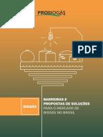 Barreiras e Propostas de Soluções Para o Mercado de Biogás No Brasil