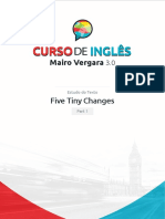 Estudo do Texto - Five Tiny Changes - Part 1.pdf