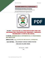 informe hidrologia metodos