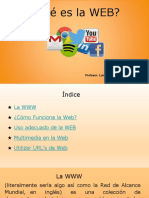 ¿Qué es la WEB