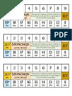 Munchkin Level Board