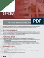 Universidad Nacional de Ingeniería-MAESTRÍA EN CIENCIAS EN ECONOMÍA MATEMÁTICA