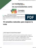 10 Remedios Naturales Para Mejorar La Vista
