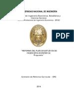 """UNI-Facultad de Ingeniería Económica, Estadística y Ciencias Sociales """"REFORMA DEL PLAN DE ESTUDIOS DE INGENIERÍA ECONÓMICA"""