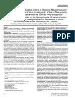 Artigo - Influencia Da Procainamida Sobre o Bloqueio Neuromuscular