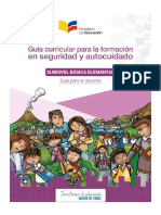 Libro para guia Curricular Para La Formacion en Seguridad