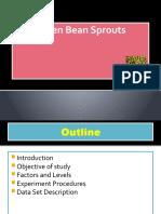 Green Bean Sprouts (Experimental Design)