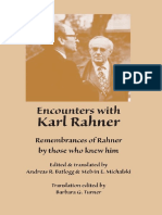 BATTLOG, A. R. & MICLALSKI, M. E., Encounters With Karl Rahner. Remembrances of Rahner by Those Who Knew Him, Marquette UP, 2009