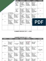 smu summer bridge 2017 calendar - detailed