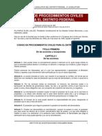 Modulo 3 Lectura 7 Codigo de Procedimientos Civiles Para El Distrito Federal