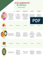 Plan de Alimentacion de 1500 Kcal - Fiestas Patrias