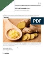 10 Alimentos Que Calman Dolores _ Notas _ La Bioguía