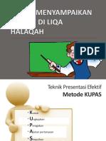 Materi 7 -- Teknik Menyampaikan Materi Di Liqa Halaqah
