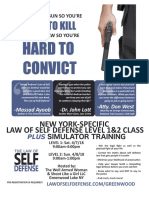 Law of Self Defense LEVEL 1 CLE NY Syllabus 180407 v170730