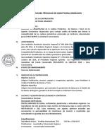 Especificaciones Técnicas de Insecticida Organico