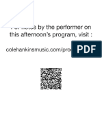 Cole Hankins - Senior Recital Program Notes