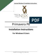 Primavera P6 Professional Windows 8 Inst