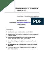 La Planif en Argentina 1930-2012 Muller Gomez