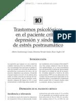 Trastornos psicol en el pac cri¦üt. Depresio¦ün y si¦ündrome de estre¦üs postraum