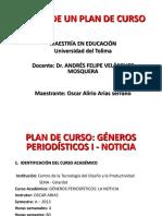 Presentación PLAN de CURSO Oscar Arias 2.