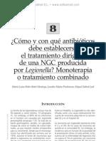 Co¦ümo y con que¦ü antibio¦üticos establecer el tto de una NCG por Legionella