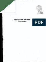 Fikih Lima Madzhab, Muh Jawad Mughniyah