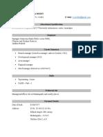 Tccr Resume