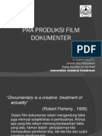 Sinematografi IV Dokumen Pra Produksi Film Dokumenter