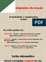 Explicação - Transitividade Verbal e Seus Complementos