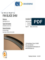 Cfm 56 7b Fan Blade Shim