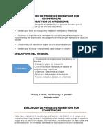 Evaluación de Procesos Formativos Por Competencias