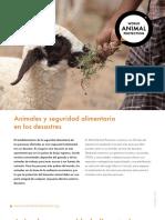 Animales y Seguridad Alimentaria en Los Desastres