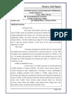Factory Visit Report - CVRDE,Avadi
