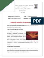 Ciudadania Principio de Igualdad en La Constitución Del Ecuador