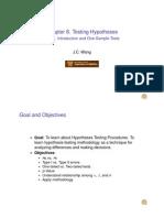 Hypotheses Test 1 Handout